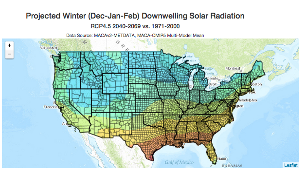 Climate Tools From The University Of Idaho - Us annual snowfall map