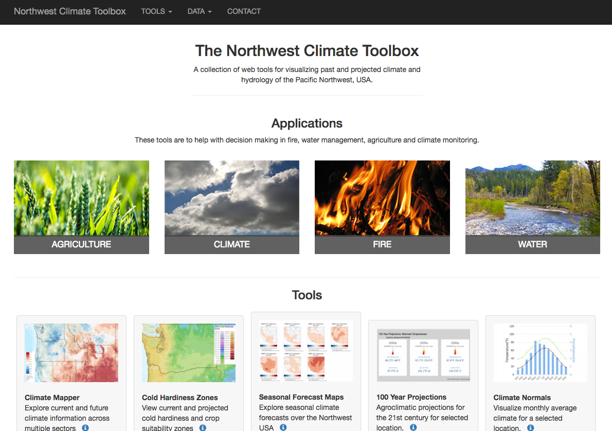 Climate Tools From The University Of Idaho - Us climate overlays google maps